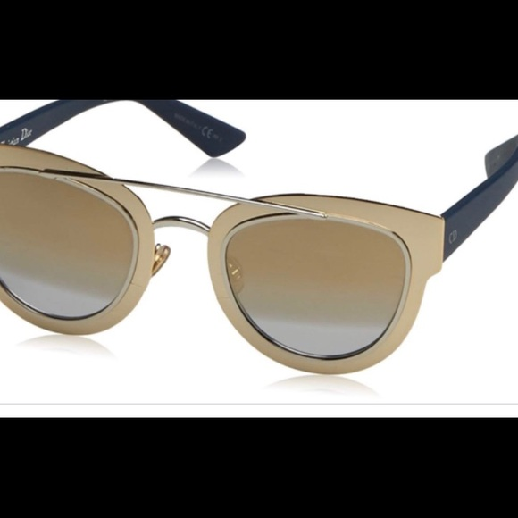 be6d3af3ac Dior Chrome LML9F Gold Mirrored Sunglasses NEW